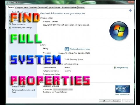 How to Check Full Specification of Any Laptop or PC