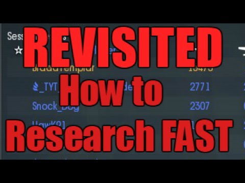 War Thunder - How to Research fast (REVISITED)