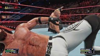 WWE 2K18 - AJ Styles vs Brock Lesnar