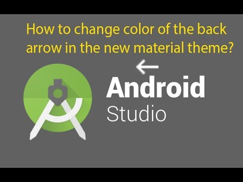 How to change color of the back arrow in the new material theme - Android Studio