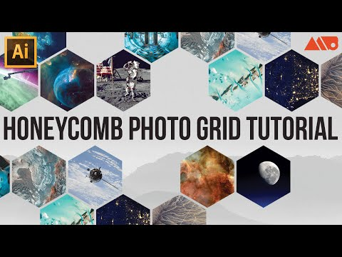 How to Make a Honeycomb Photo Grid in Adobe Illustrator Tutorial