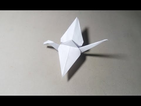 How To Make A Paper Bird That Flaps its wings EASY!   How To Make an Origami Flapping Bird