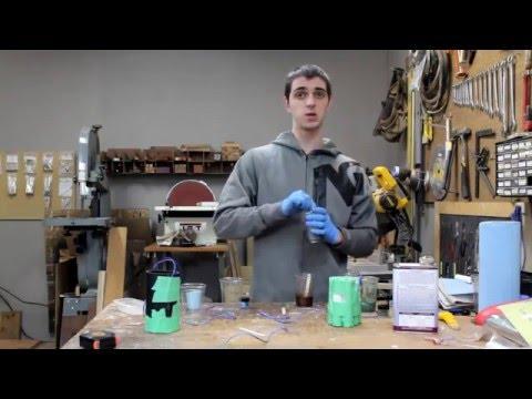 casting a ployester resin pen blank