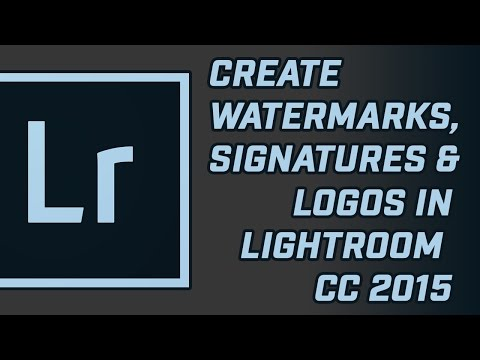 Brand Your Photos with Watermark / Logo on Adobe Lightroom CC