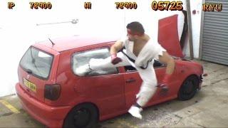 REAL LIFE Street Fighter Car Bonus Stage