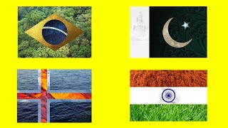 Realistic Flags of the World