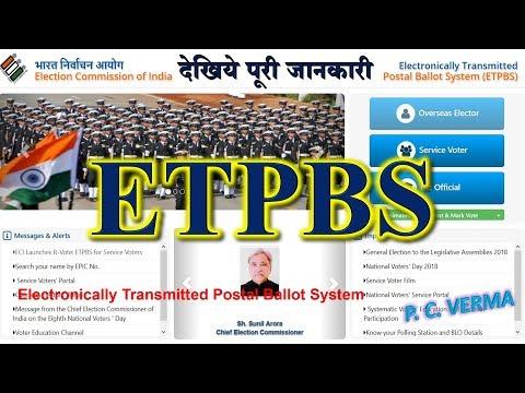 ETPBS INFORMATION - ECI SERVICE VOTER APPLICATION NVSP SVEEP PORTAL DASHBOARD P C VERMA