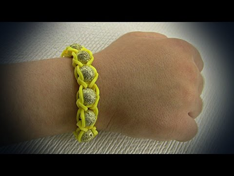 How to make: yellow bracelet with beads