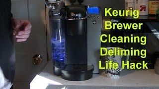 Keurig Brewer Cleaning Descaling Life Hack Coffee Descale Keurig