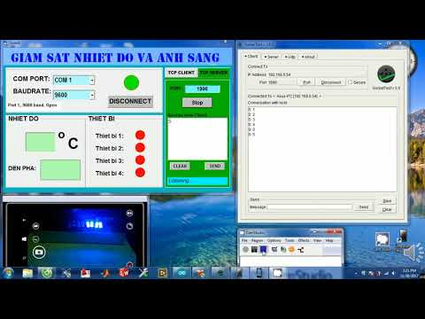 REMOTE CONTROL ARDUINO WITH VB6 SERVER AND SOCKETTEST CLIENT BY TCP/IP PROTOCOL