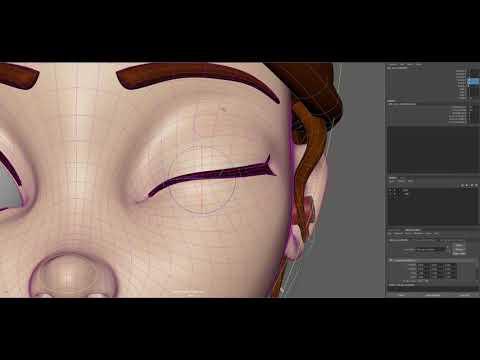 Cartoon Eye rig with script work progress