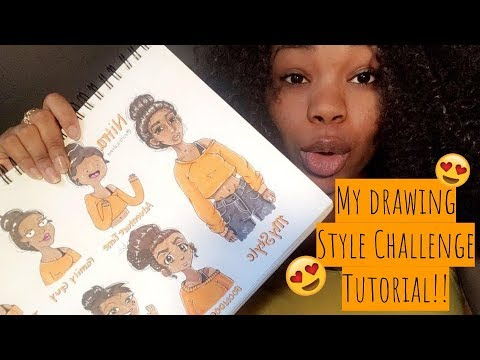 My Drawing Style Challenge Tutorial | Nitra ♡