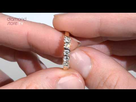 E3958 - 0.24ct Diamond Half Eternity Ring In 9K Yellow Gold