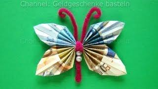Geldschein Falten Blume Zum Geldgeschenke Basteln