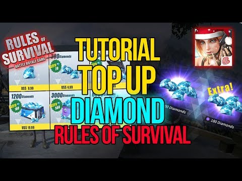 Tutorial Top Up Diamond RULES OF SURVIVAL PC (harus account scan BARCODE)!