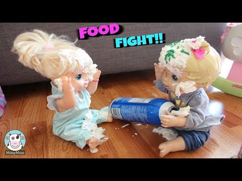 Baby Alive Food Fight with Bailey and Brianna