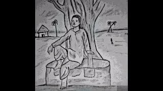 How to draw  village man  beautiful drawing