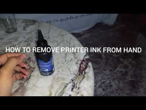 How to remove printer ink from hands