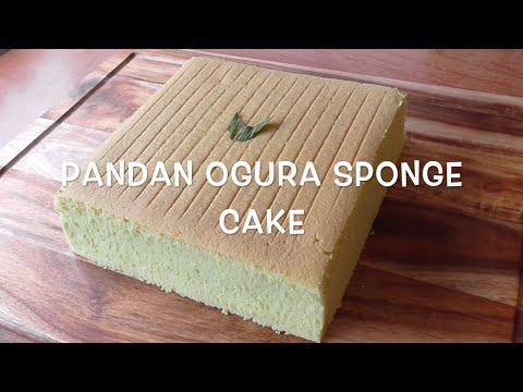 How to Make Pandan Ogura Sponge Cake / Resep Bolu Pandan Ogura