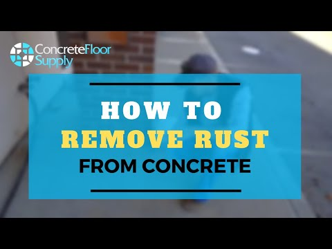 Removing rust from concrete