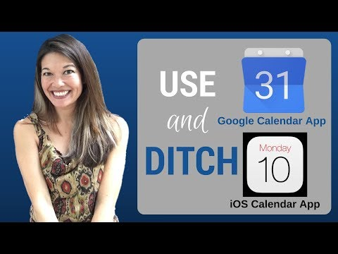 Use the Google Calendar App and Ditch the iOS Calendar