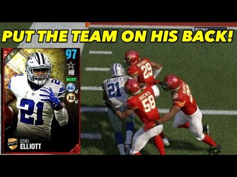 TOTY ZEKE PUTTING THE TEAM ON HIS BACK! BEST HALFBACK IN MADDEN 17! | MADDEN 17 ULTIMATE TEAM