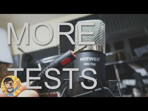 Neewer NW-700 Connected directly to PC Microphone Test, no Phantom Power