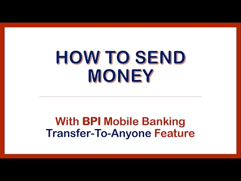 How to Send Money with BPI Mobile App Transfer to Anyone Feature