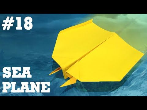 Kids easy origami - How to make paper airplane #18| Sea Plane