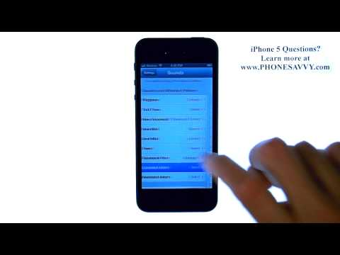 Apple iPhone 5 - iOS 6 - How to Change Calendar Alert and Reminder Tone