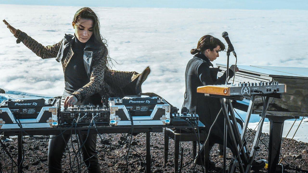 Giolì & Assia - #DiesisLive @Etna Volcano, Sicily [FPV drone / Electric Handpan, Grand Piano]