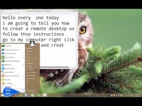 how to creat remote desktop user