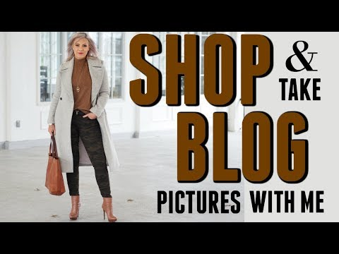 SHOP & TAKE BLOG PICTURES WITH ME: VLOGMAS Day 1