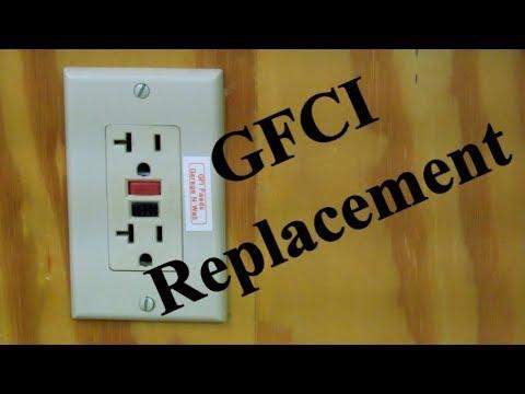 Replacing A GFCI Wall Receptacle