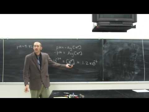 More pH problems - Calculate hydrogen ion concentration from pH 001