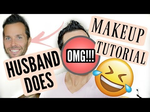 HUSBAND DOES MAKEUP TUTORIAL (FUNNIEST VIDEO EVER!!!)