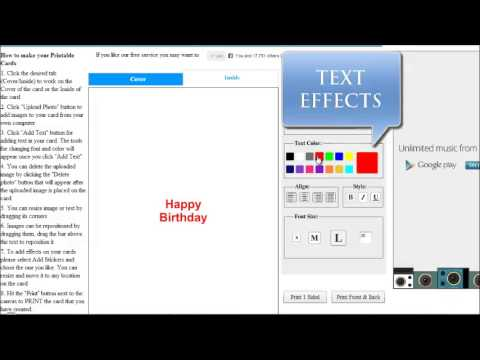 How To Create Printable Birthday Cards