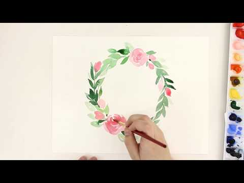 Intro to Watercolor Floral Course NOW LIVE!
