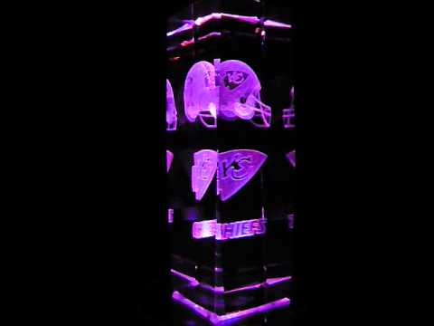 NFL Kansas City Chiefs 3D Laser Etched Crystal - 6 Inch -