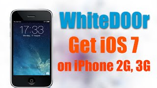 Whited00r Install Ios 7 On Iphone 2g 3g Ipod Touch 1g Ipod Touch 2g