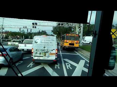 Greyhound bus arriving in Orlando Fl.