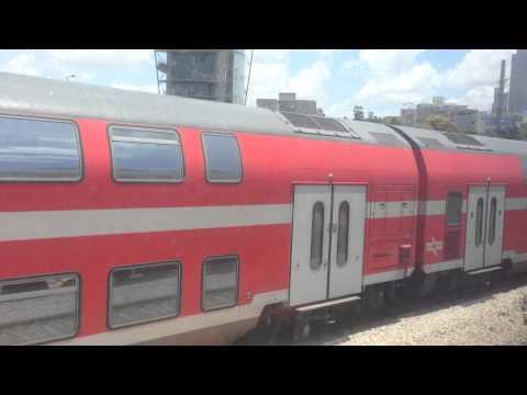 Train Israel Israel Railways 2014 Traveling from Tel Aviv to Haifa