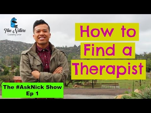 Ask a therapist| How do you find a Therapist?