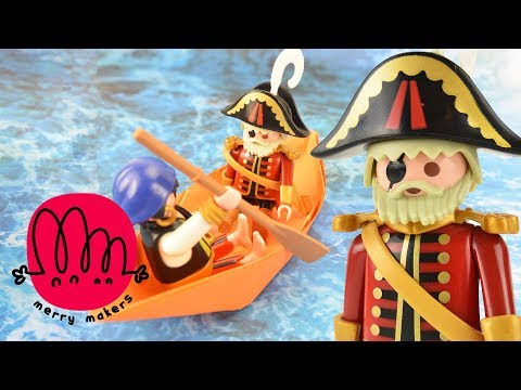How to Make a Paper Boat for Kids with Playmobil Pirates