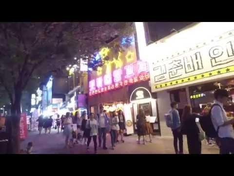 Seoul - Hongdae/Gangnam/Itaewon walk around - Fri/Sat night - DJI Osmo