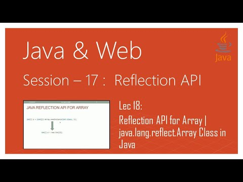 Reflection API in Java | #18 | Reflection API for Array | java.lang.reflect.Array Class in Java
