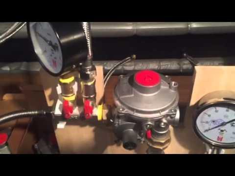 Test gas pressure regulator ERG-S25 production Eska Valve  without design changes.