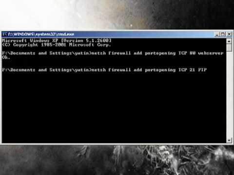 Batch File:How to open/close a port
