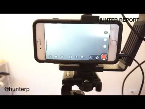 Professional iPhone Video Recording Setup. Sennheiser Wireless Microphone.