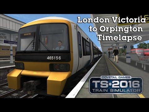 Train Simulator 2016: SouthEastern Class 465 London Victoria to Orpington (CML) Timelapse